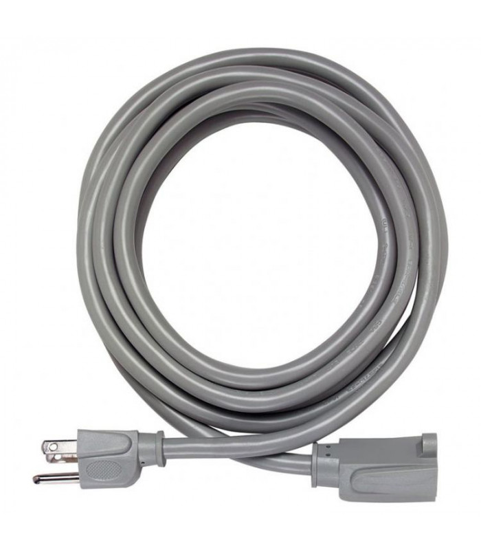 15A 14AWG Extension Cord, 10 Ft, Grey