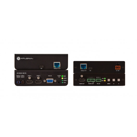 (KIT Tx/Rx) HDBaseT TX/RX with Three-Input Switcher and HD Scaler