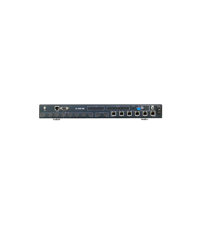 8x8 HDBaseT Matrix - 6 x 70m (4K @60 up tp 40m) HDCP 2.2, 6 x HDBaseT Outputs & 2 x HDMI Outputs, Bi-directional IR, PoH (PoE),